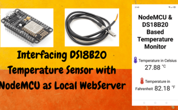 DS18B20 with NodeMCU Local WebServer