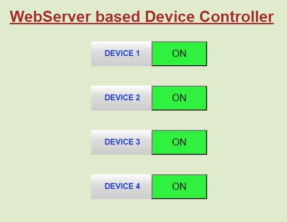 Controlling Electrical Devices with ESP8266 Web Server