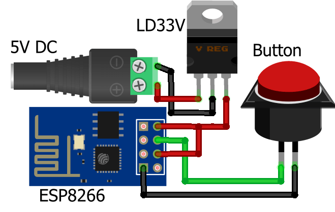 ESP8266 based IoT Panic Alarm for Old Age People using Blynk